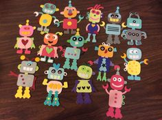 Used Marianne die cuts - Robot -soooo cute! Diy And Crafts, Arts And Crafts, Paper Crafts, Birthday Cards For Men, Man Birthday, Birthday Accessories, Marianne Design Cards, Craft Punches, Punch Art