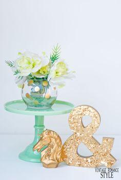 VINTAGE ROMANCE STYLE: Knock It Off DIY: Dollar Tree Kate Spade Pearl Place Rosebowl
