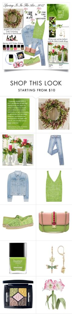 """""Greenery...Pantone Spring 2017...#1"" by onesweetthing ❤ liked on Polyvore featuring Pier 1 Imports, Grandin Road, rag & bone, Missoni, Vidorreta, Valentino, Butter London, Betsey Johnson, Christian Dior and Dolce&Gabbana"