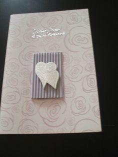 Purple Wedding Card