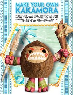 Moana: Make Your Own Crazy, Coconut-Armored Kakamora Pirate + $25 Cash Giveaway | Ends 12.7.16