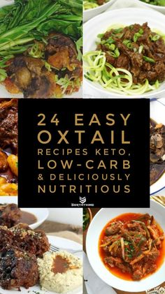 24 Easy Oxtail Recipe Ideas - Low-Carb, and uniquely nutritious Oxtail Recipes Crockpot, Spicy Recipes, Lunch Recipes, Appetizer Recipes, Low Carb Recipes, Crockpot Recipes, Healthy Recipes, Curry Recipes, Savoury Recipes