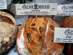Lovely loaves at the Acme Bread Company at the Ferry Building in San Francisco