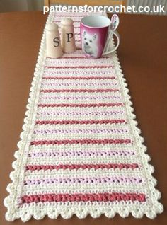 Dining Table Runner ~ Patterns For Crochet