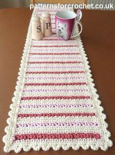 Dining Table Runner ~ Patterns For Crochet