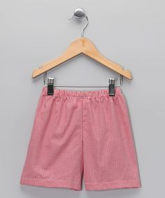 Take a look at this Red Gingham Shorts - Infant, Toddler & Kids by Peppermint Pony on #zulily today!