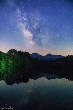 Milky way up from Mt.Bandai by mono Pix.....  landscape lake reflection nature travel japan mountain milkyway nightscape