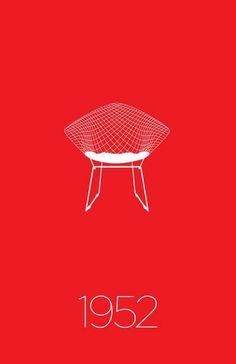 Modern Furniture Classic 1952 Diamond Chair