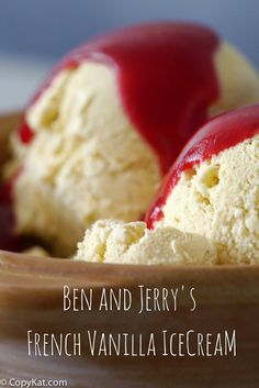 Ben and Jerry's French Vanilla Ice Cream from CopyKat.com
