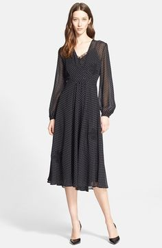 Nordstrom Signature and Caroline Issa Embroidered Silk Chiffon Dress available at #Nordstrom