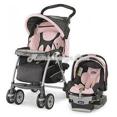 Chicco Cortina Keyfit 30 Travel System Bella with Fashionable Diaper Bag Chicco Travel System, Baby Girl Strollers, Twin Strollers, Best Lightweight Stroller, Chicco Baby, Travel Systems For Baby, Traveling With Baby, Baby Disney, Trendy Baby