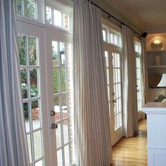 window treatments for french doors horizontal mini blinds ward log homes pertaining to 15 Brilliant Window Coverings for French Doors