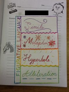 interactive notebooks language arts | Language Arts | ESUMS 6th Grade Language Arts | Imagine ~ Investigate ...