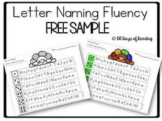 Letter Naming & Sounds Fluency Practice Sheets with Daily