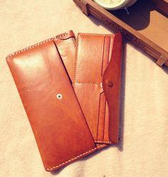 Handmade women leather wallet vintage wallet by MagicLeatherStudio