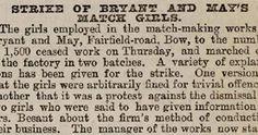 match box girls strike 1888 - Google Search