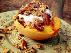 Waking Up In Lala Land: Clean Grilled Peach Dessert