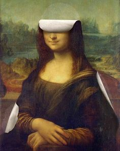 Arte by 👈🏻 Surreal Collage, Surreal Art, Collage Art, La Madone, Mona Lisa Parody, Mona Lisa Smile, Acid Art, Renaissance Artists, Louvre