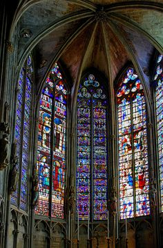 Cathedral in the Medieval City of Carcassonne, Languedoc-Roussillon, Aude, France