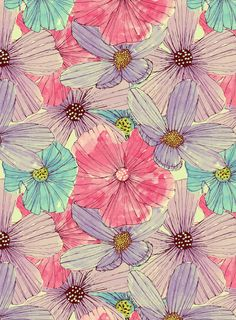 Poster   WATERCOLOUR FLOWERS von Tracie Andrews   more posters at http://moreposter.de