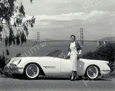 Chevrolet Corvette Automobile 1953 Vintage 8x10 Reprint Of Old Photo