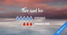 Blend Recipe: 5 drops Peppermint, 3 drops Cinnamon Bark