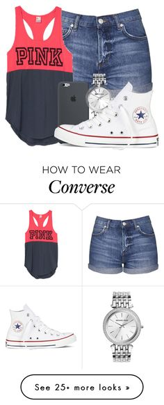 """Illuminate"" by mallorimae on Polyvore featuring Topshop, Michael Kors and Converse"