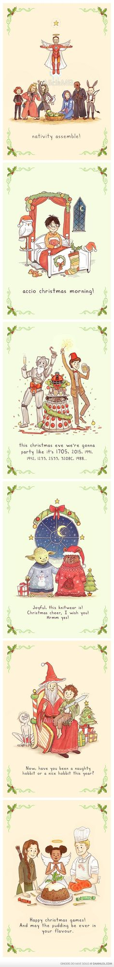 Holiday Cards For Geeks!  I'm in all these fandoms.