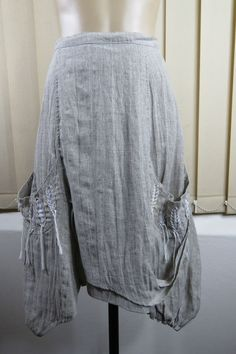 Size 8 XS Animale Ladies Beige Linen Skirt A-Line Feminine Boho Chic Indie Style