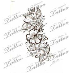 Marketplace Tattoo Flowers (black work) #157 | CreateMyTattoo.com