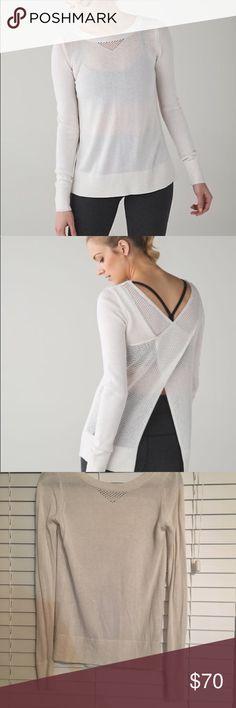 Lululemon sunset savasana sweater, size 4 Lululemon Sunset Savasana Sweater, 4. Beautiful back can be buttoned or left open lululemon athletica Sweaters