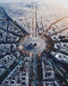 Looking down on Paris