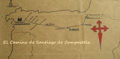 El Camino de Santiago.... Mapa.