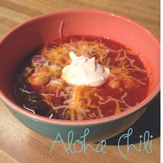 Crock Pot Aloha Chili