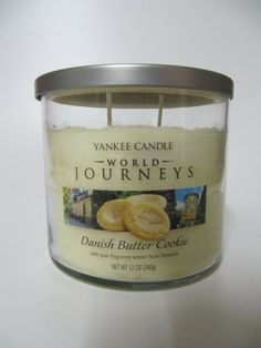 Yankee Candle World Journeys 12 oz 2 Wick Medium Tumbler Candle DANISH BUTTER COOKIE with pure fragrance extract from Denmark ** Read more reviews of the product by visiting the link on the image.