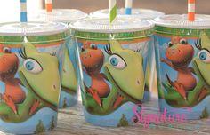 Dinosaur Train Party Cups Dinosaur Birthday by SignatureAvenue, $10.40