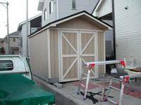 ガレージを作ろう 屋根まで完成 屋根 ガレージ 観音開き