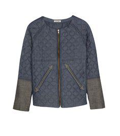 McGuire Padded Fencing Jacket ($398, 323.651.4129) in Heist