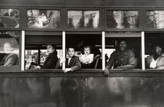 Trolley—New Orleans, 1955 by Robert Frank from his book the Americans The Americans, Mary Ellen Mark, Jean Reno, Anne Bancroft, Cat Stevens, Charlie Watts, Walker Evans, Dylan Thomas, Ann Margret
