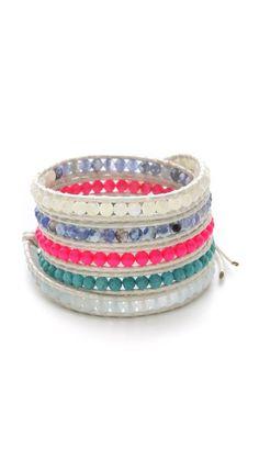 Chan Luu beaded wrap bracelet.