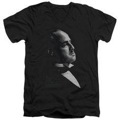 Godfather/ Vito Short Sleeve Adult T-Shirt V-Neck 30/1 in
