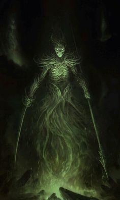 Bovildur the goddess of the dead