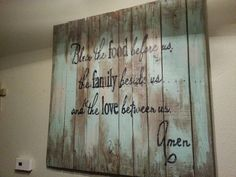 Bless the love wall sign by PuddleglumProducts on Etsy, $100.00