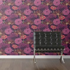 Showcasing a bold floral motif, this removable wallpaper brings regret-free style to any room. Make a statement on an accent wall or your refrigerator door, ...