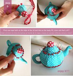Free Teapot Pincushion photo tutorial and pattern