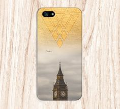 Geometric Gold Big Ben x London Plane Phone Case for iPhone and Samsung
