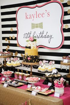 If you have a little fashionista, make a splash at her next birthday party with a Kate Spade inspired pool party theme! 13th Birthday Parties, 10th Birthday, Birthday Party Themes, Birthday Nails, Cake Birthday, Birthday Ideas, Kate Spade Party, Bday Girl, Festa Party
