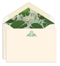 Water Lilies by John Derian Note Cards