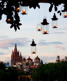 San Miguel de Allende - Mexico. There are a number of colonial churches in San Miguel.  This view is just lovely.  Sure takes me back to wonderful times!