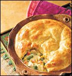 Chicken pot pie topped with biscuits. Might have to shake things up with my own chicken pot pie recipe now. Healthy Chicken Pot Pie, Chicken Recipes, Chicken Soup, Chicken Potpie, Cooked Chicken, Turkey Chicken, Skinny Chicken, Recipe Chicken, Chicken Rice